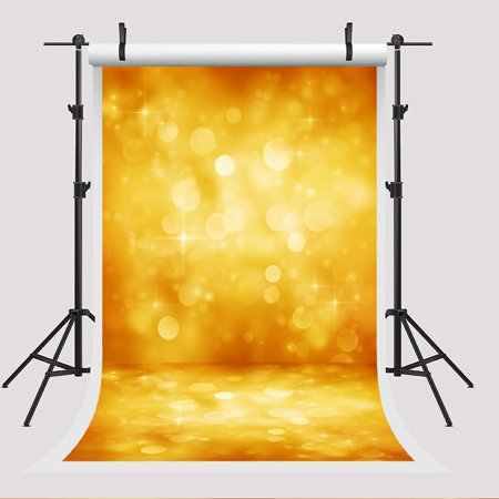 EREHome Polyester Fabric 5x7ft Golden Birthday Party Photo Booth Props Background Shiny Polka for Children Backdrops - image 2 de 2