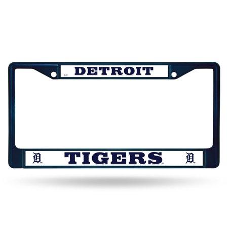 Navy Art Glass Frame - Rico Industries MLB Color License Plate Frame, Detroit Tigers