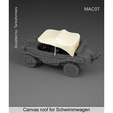 Mantis Miniatures 1:35 Canvas Roof for Schwimmwagen - Resin Details #MAC07