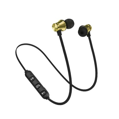 XT11 Magnetic Bluetooth 4.2 In-ear Headset Hands-free Noise Reduction Sports Running Wired Earphone (Gen Headphone)