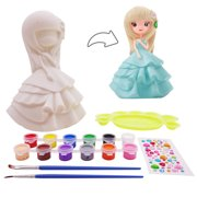 veZve Toy to Paint for Kids 4 to 8 Years Old Girls DIY Money Bank, Princess Figurine