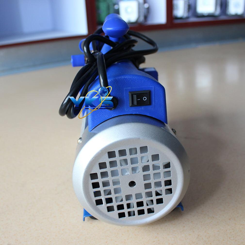 HVAC AC Air Tool Double 2 Stage 4CFM 1/3HP Rotary Vane Deep Vacuum Pump