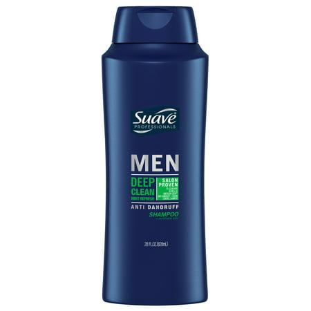 (2 Pack) Suave Men Deep Clean Mint Refresh Anti Dandruff Shampoo, 28 (Organix Tea Tree Mint Shampoo For Dandruff)