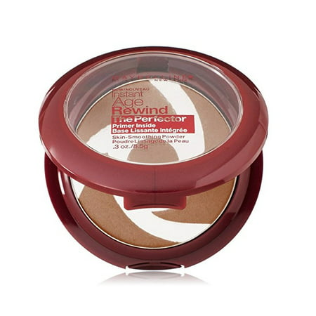 Maybelline New York Instant Age Rewind The Perfector Powder, Deep, 0.3 Ounce + Schick Slim Twin ST for Dry