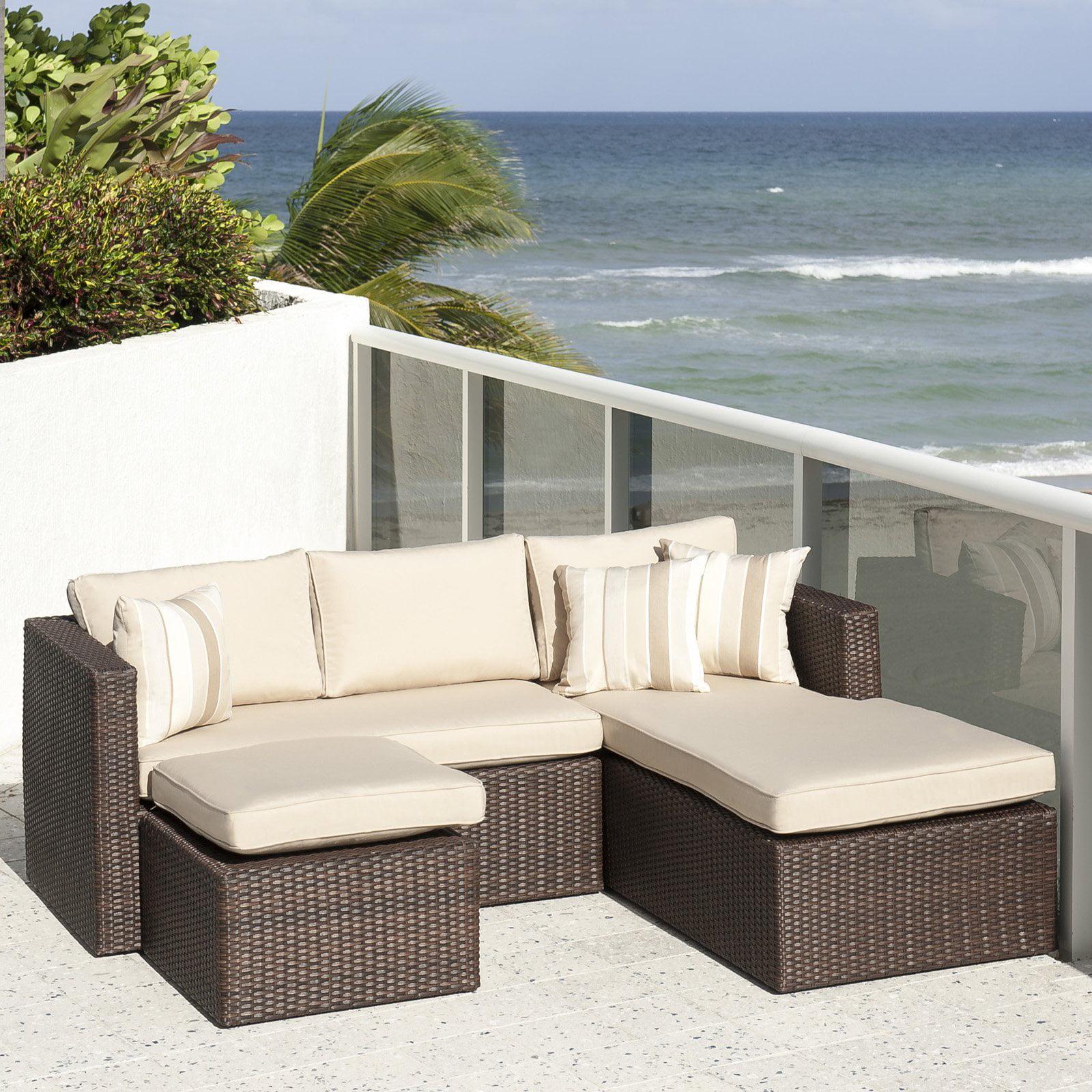 Atlantic sydney 3 piece patio conversation set with sunbrella cushions
