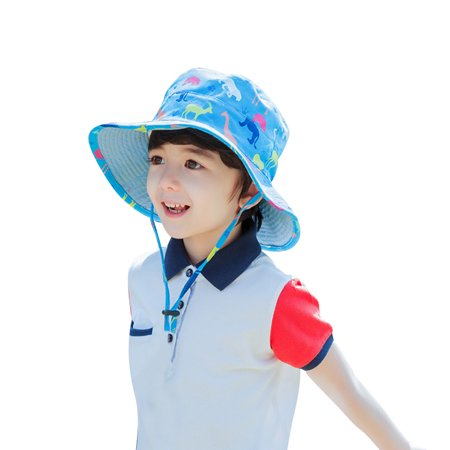 Outdoor Sun Hat for Kids-Vbiger Kids Adorable Bucket Hat Reversible Beach Bucket Cap Foldable Sun Protection Cap Outdoor Sun Hat