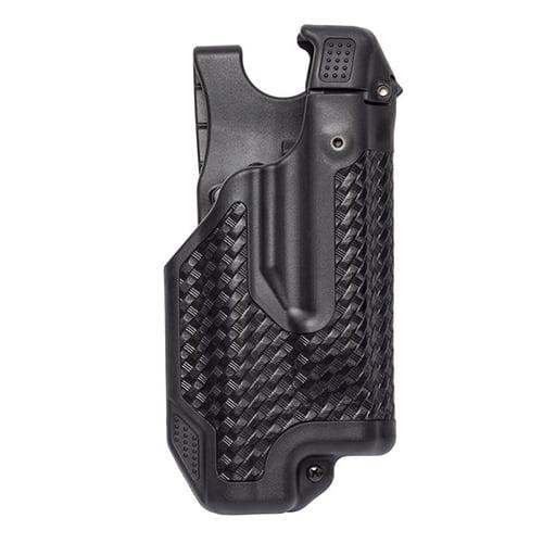 Blackhawk! Epoch Level 3 Light Bearing Duty Holster Glock 17 22 31. Baskwetweave Black, Right Hand by BLACKHAWK!