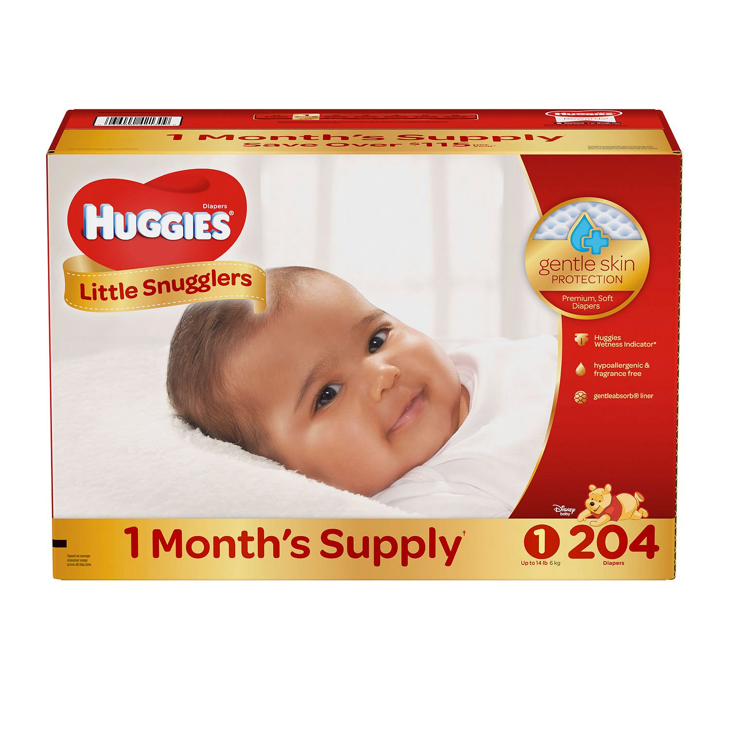 Huggies Little Snugglers Diapers Size 1 204 ct. ( Weight Up to 14 lbs.) Bulk Qty, Free Shipping Comfortable,... by Branded Diapers