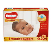 Huggies Little Snugglers Diapers Size 1 - 204 ct. ( Weight Up to 14 lbs.) - Bulk Qty, Free Shipping - Comfortable, Soft, No leaking & Good nite Diapers