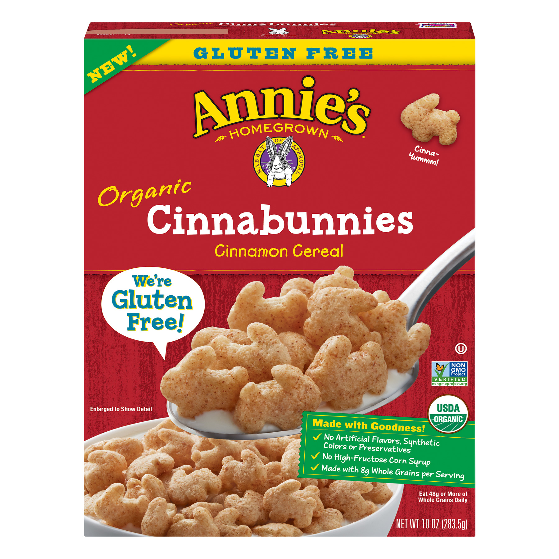 Annie's Organic Cinnabunnies Breakfast Cereal, 10 oz Box