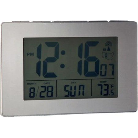 Sonnet T-4693 1.75 in. Atomic LCD Alarm Clock with Light on Demand