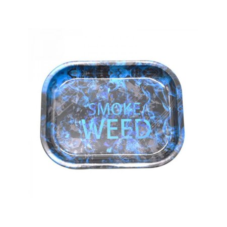 MarinaVida Tinplate Metal Cigarette Rolling Tray Tobacco Storage (Cigarette Tray With Neck Strap For Sale)