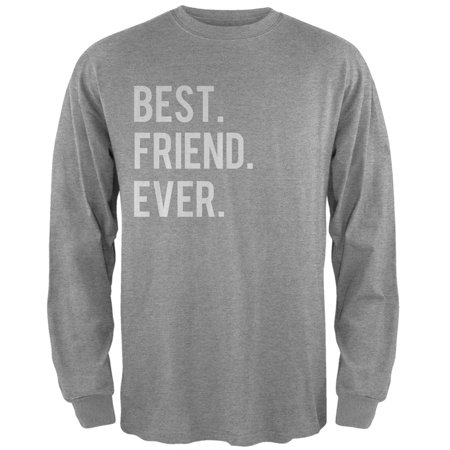 Valentine's Day Best Friend Ever Heather Grey Adult Long Sleeve