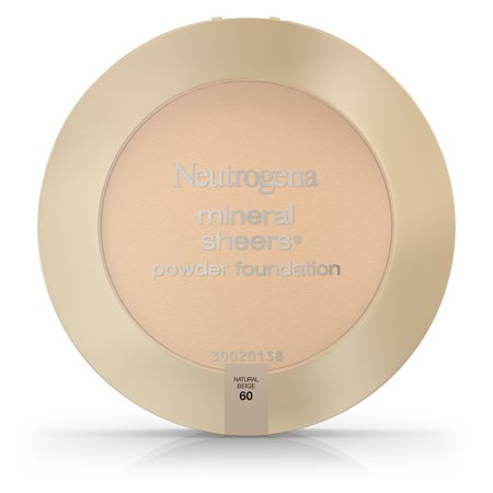Sheer Finish Compact Foundation - Neutrogena Mineral Sheers Compact Powder Foundation Spf 20, Natural Beige 60,.34 Oz.