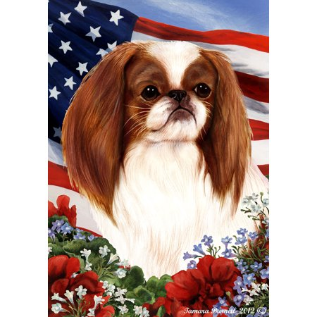 Japanese Chin Red and White - Best of Breed Patriotic I Garden