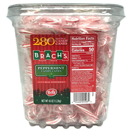 Bob's, Mini Candy Canes Christmas Candy Tub, 43 Oz, 280 Ct