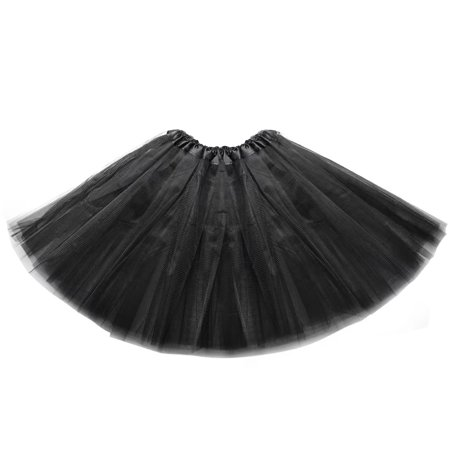 VicTsing 3-Layered Tulle Tutu Skirt with Elastic Waistband, Perfect for Dance Classes, Parties, Costumes (Black) - Blue Tutus For Sale