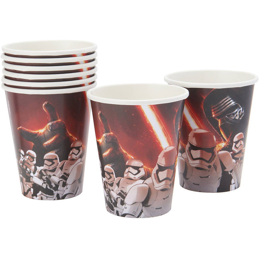 Star Wars Episode VII 9-oz. Paper Cups, 8 Count, Party Supplies