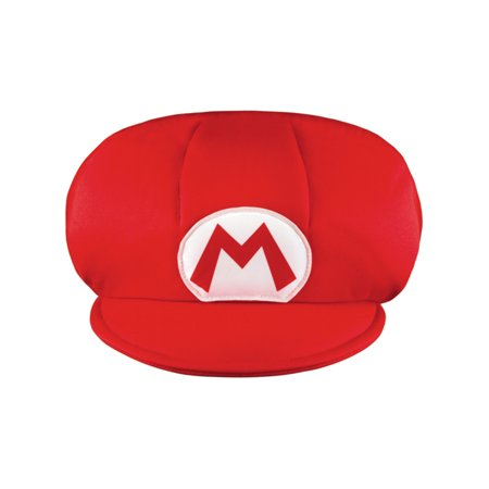 Boys Child Jumbo Giant Nintendo Super Mario Brothers Costume Accessory Red M Hat - Toad Mario Hat