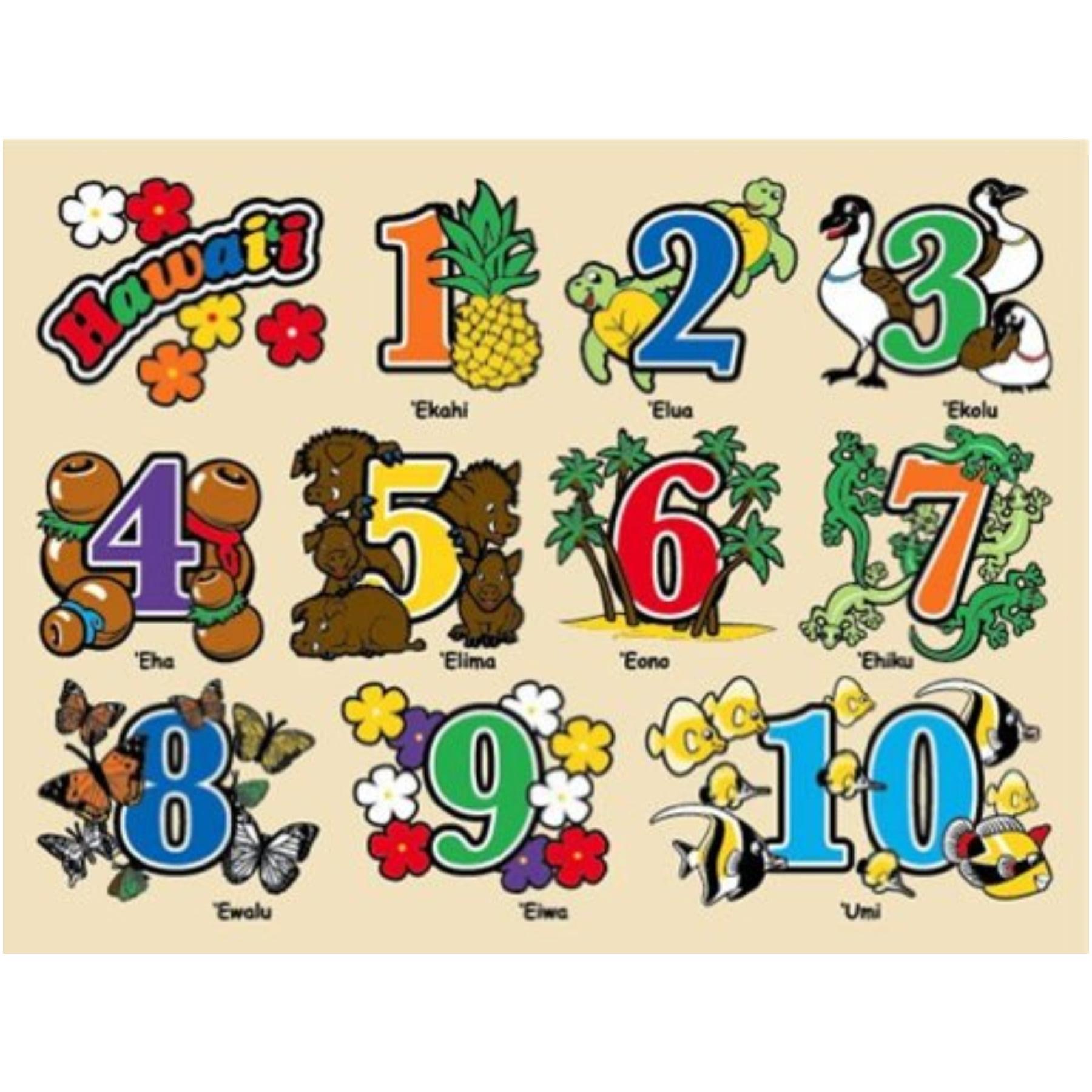 Hawaiian Childrens Wood Puzzle Numbers by Islander