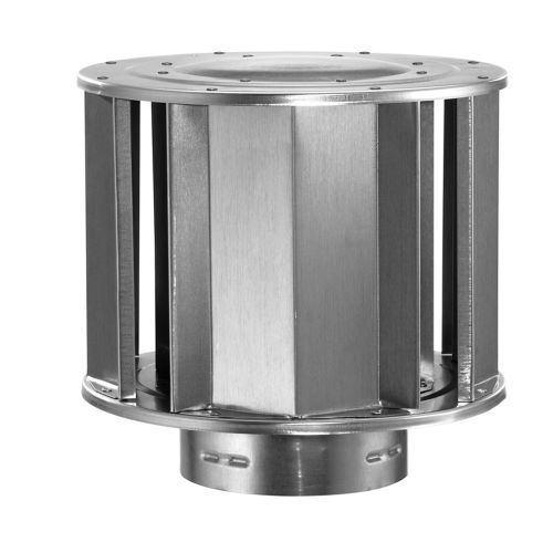 "DuraVent 4GVVTH 4"" Inner Diameter - Type B Round Gas Vent Pipe - Double Wall - High-Wind Cap"
