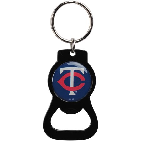 Tech Bottle Opener Keychain - Minnesota Twins Bottle Opener Keychain - Black - No Size