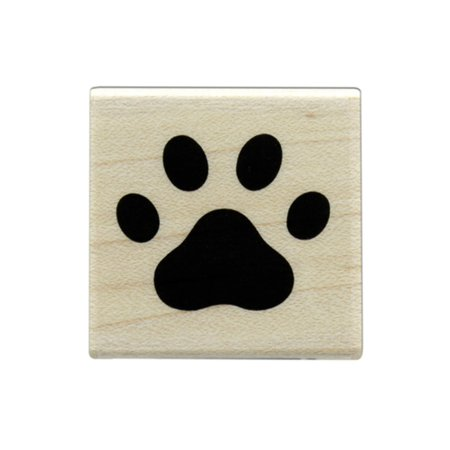 HROA6220 HERO ARTS WOOD STAMP PAW PRINT - Paw Print Stamp