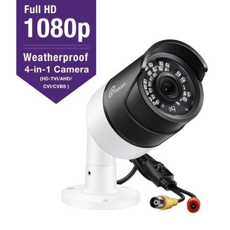Loocam 1080p HD Bullet Security Camera 4-in-1 HD-CVI/TVI/AHD/CVBS, 36pcs IR LEDS, 150ft Infrared Night Vision,Outdoor/Indoor Surveillance CCTV Camera Led Bullet Camera
