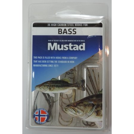 Mustad bass kit bass kit assorted bass fishing hooks pack for Fishing kit walmart