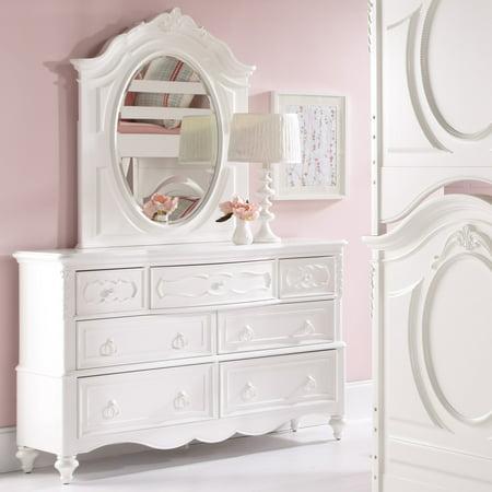 SweetHeart 7 Drawer Dresser - White