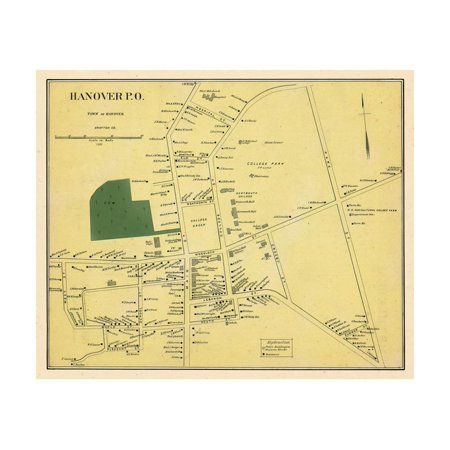 1892, Hanover Town, New Hampshire, United States Print Wall Art](Halloween Town New Hampshire)