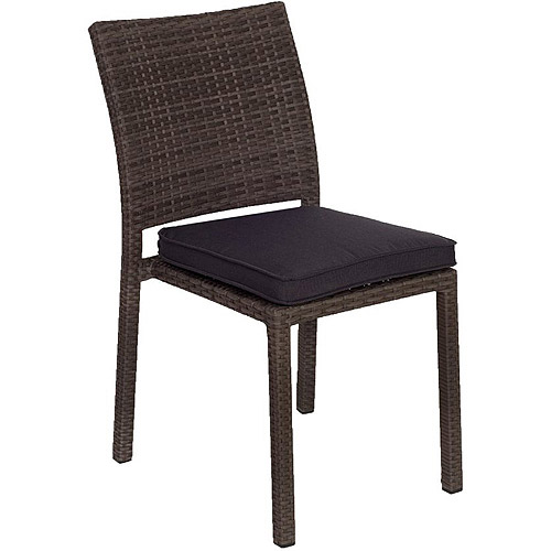 Atlantic Liberty All-Weather Wicker Outdoor Side Chairs, Set of 4, Gray