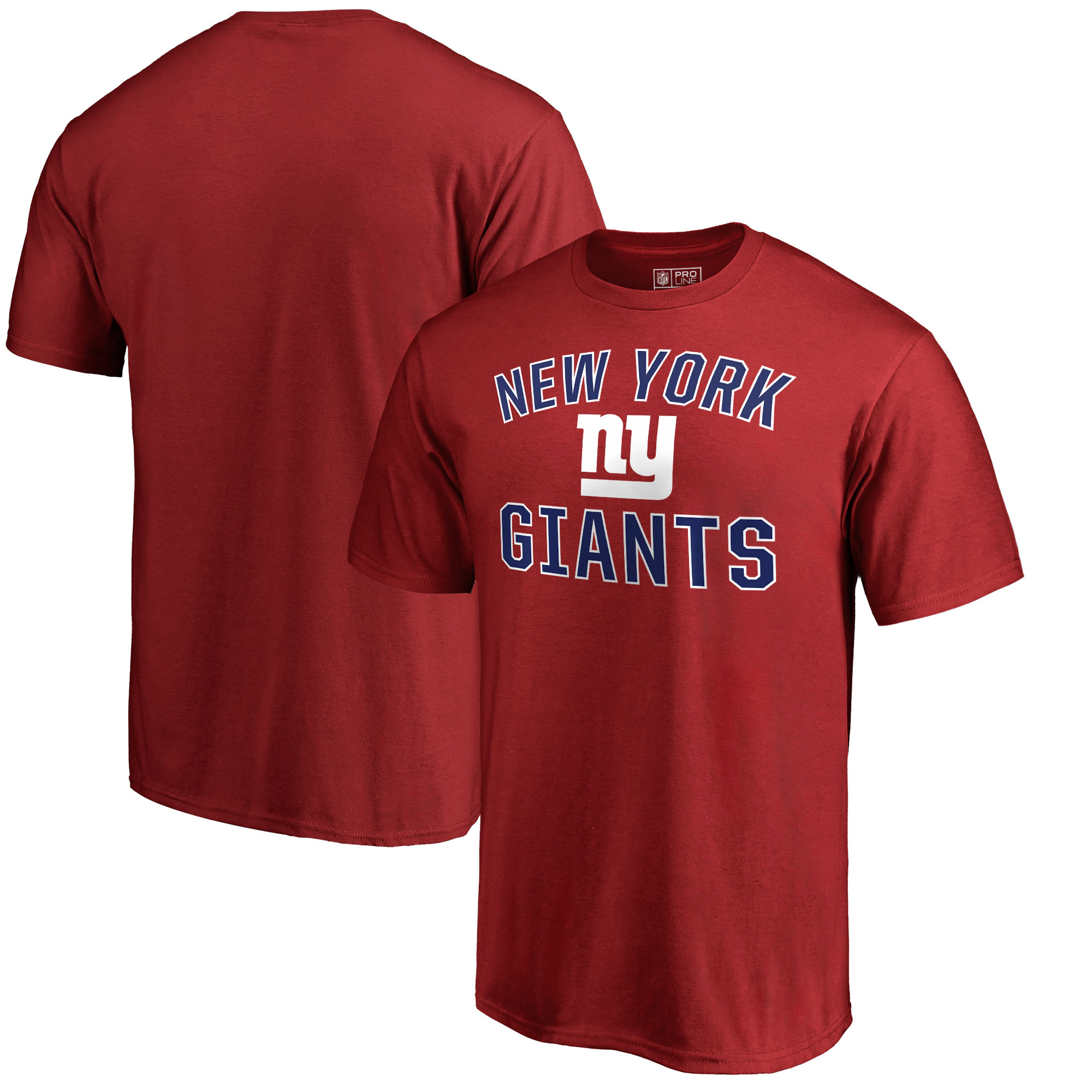 New York Giants NFL Pro Line by Fanatics Branded Victory Arch T-Shirt - Red