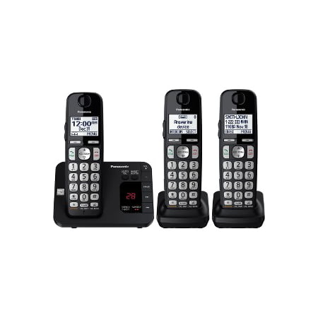 Panasonic Expandable Cordless Phone System with Answering Machine, 3 -