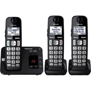 Panasonic Expandable Cordless Phone System with Answering Machine, 3 Handsets