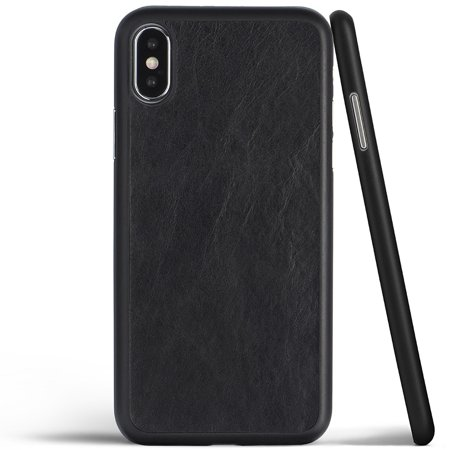 quality design 7d758 766db iPhone X Case, Thinnest Genuine Leather Cover Case for Apple iPhone X -  Ultra Thin, Slim & Real Premium Leather Back