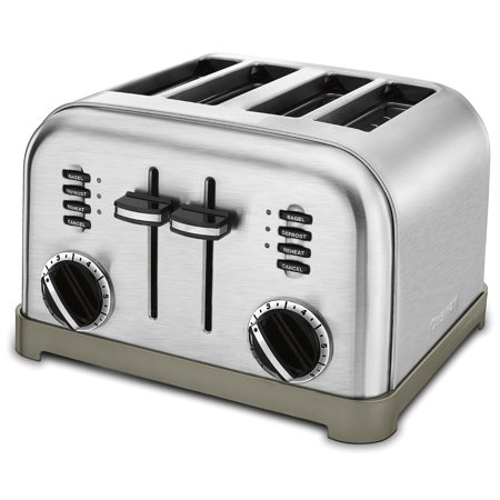 CPT-180 Metal Classic 4-Slice Toaster, Brushed Stainless, USA, Brand Cuisinart