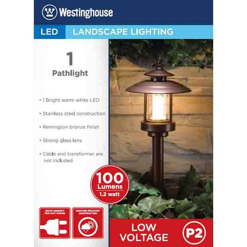 Westinghouse Heritage Low-Voltage Pathlight, Remington Bronze Finish