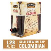 Java House Single Origin Cold Brew Coffee On Tap, Colombian Black, No Sugar, Always Fresh and Ready to Drink, Not a Concentrate, 128 fl oz