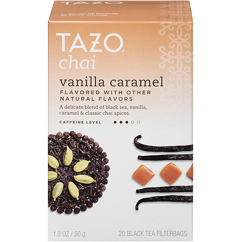 Tazo Chai Vanilla Caramel Black Tea Filterbags, 20 ct, 1.8 oz