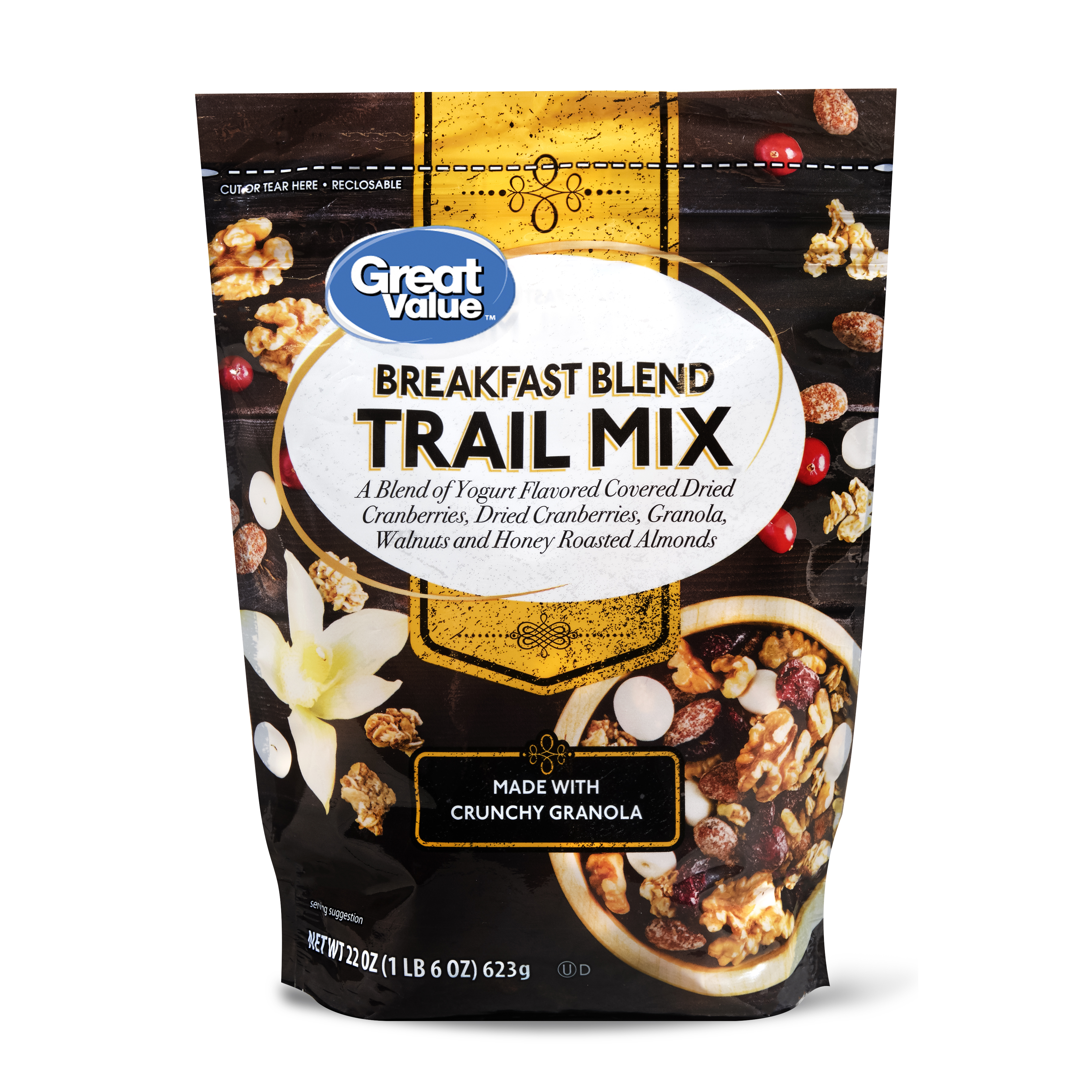Great Value Trail Mix, Breakfast Blend, 22 Oz