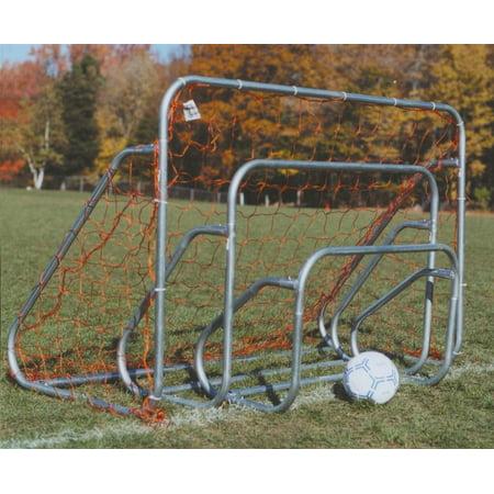 Ground Bar 1 Goal (Steel Soccer Goal w Ground Bar & Net (2 ft. H x 3 ft. W) )