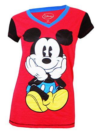 Juniors Mickey Mouse Sleep Shirt Pajamas Nightgown Blue