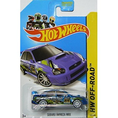 SUBARU IMPREZA WRX Hot Wheels 2014 Road Rally Hw Off-Road BLUE Subaru Impreza WRX 1:64 Scale Collectible Die Cast Metal Toy Car Model #108/250