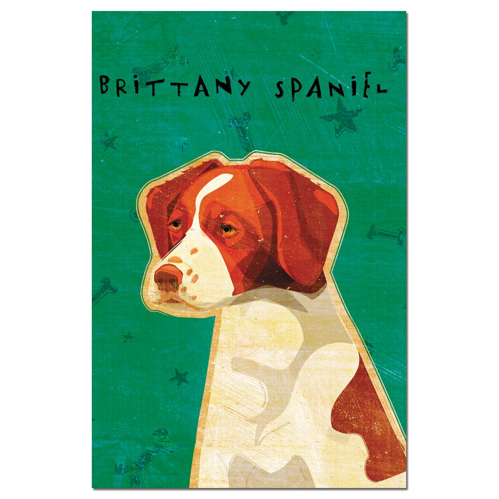 Tree-Free Greetings Brittany Spaniel econotes Blank Note Cards-FS65014
