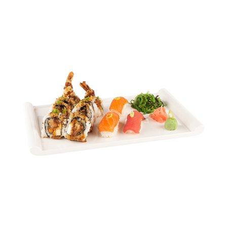 0232 Box (Rectangular Melamine Plate, White Melamine Plate - 12 Inch Plate - Small Japonais Plate - 10ct Box)