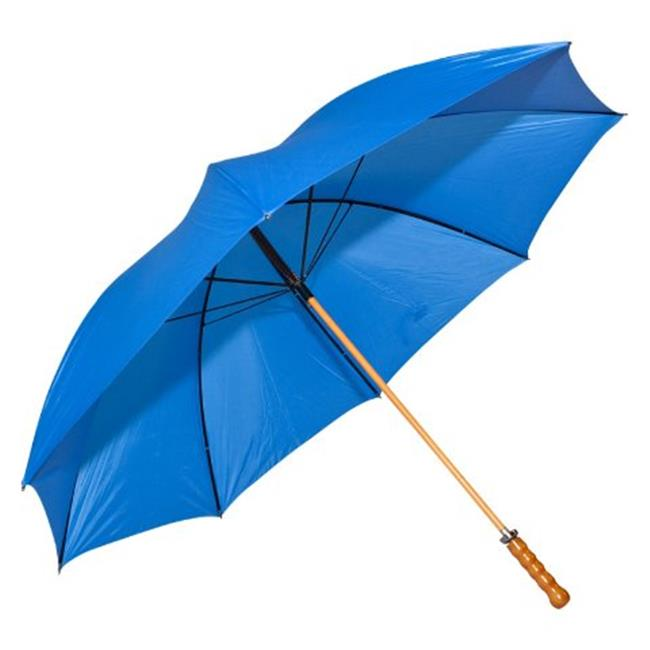 Elite Rain Umbrella Wooden Shaft Golf Umbrella - Royal Blue