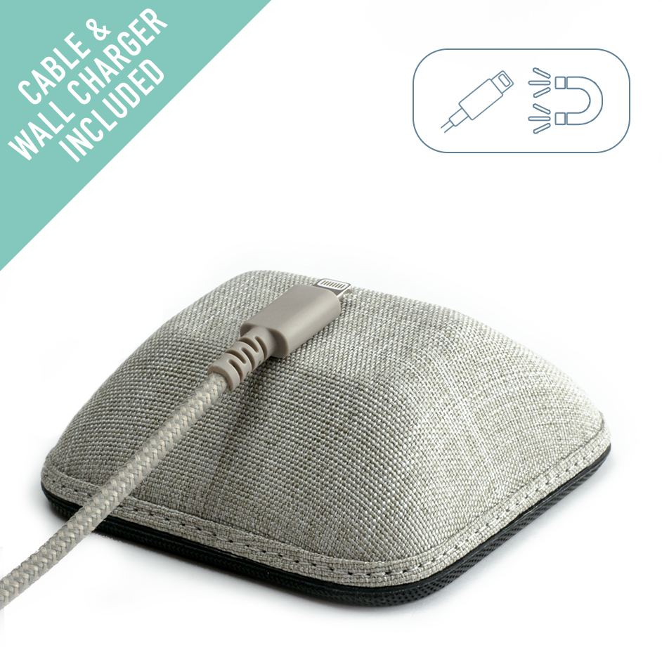 Silk Magnetic Cable Manager - CABLE WRANGLER Magnet Base Cord Organizer for your Nightstand - No. 2 Pencil Gray