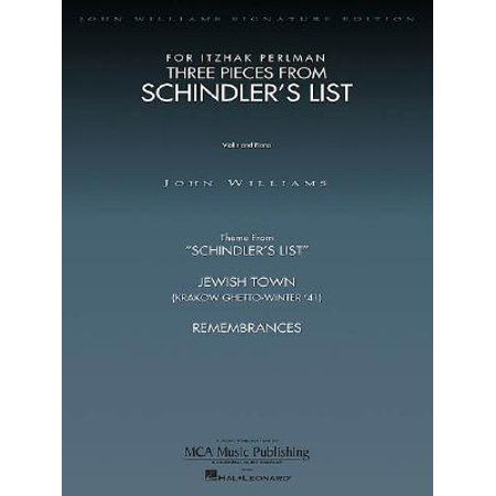Three Pieces from Schindler's List Violin and (Three Piano Pieces)