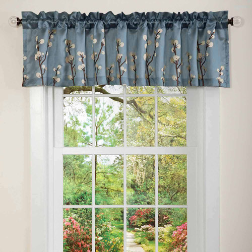 Cocoa Flower Blue Valance by Generic